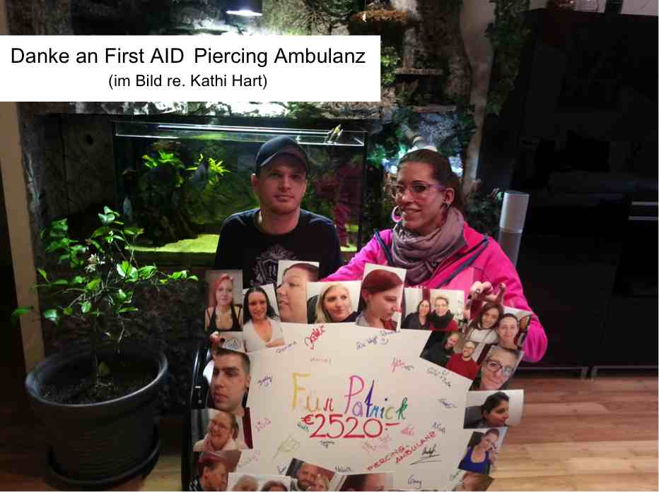first aid piercing ambulanz patrick krug spende